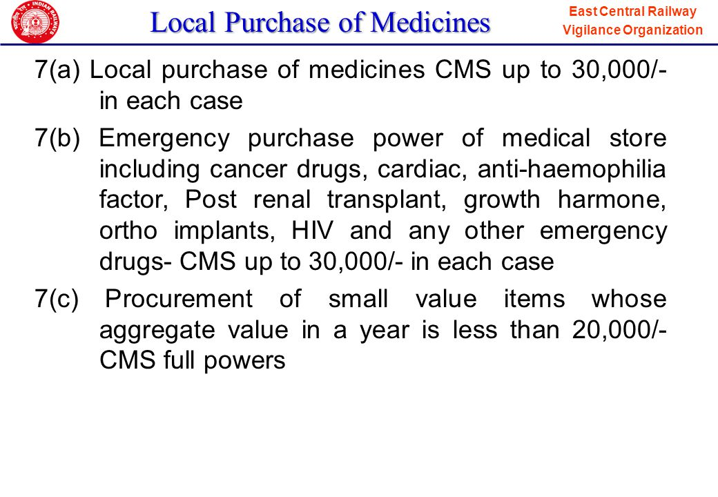 Local Purchase of Medicines