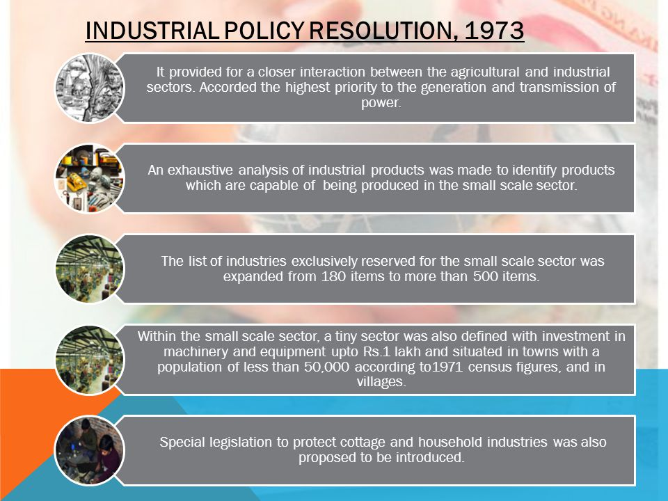 INDUSTRIAL POLICY RESOLUTION, 1973