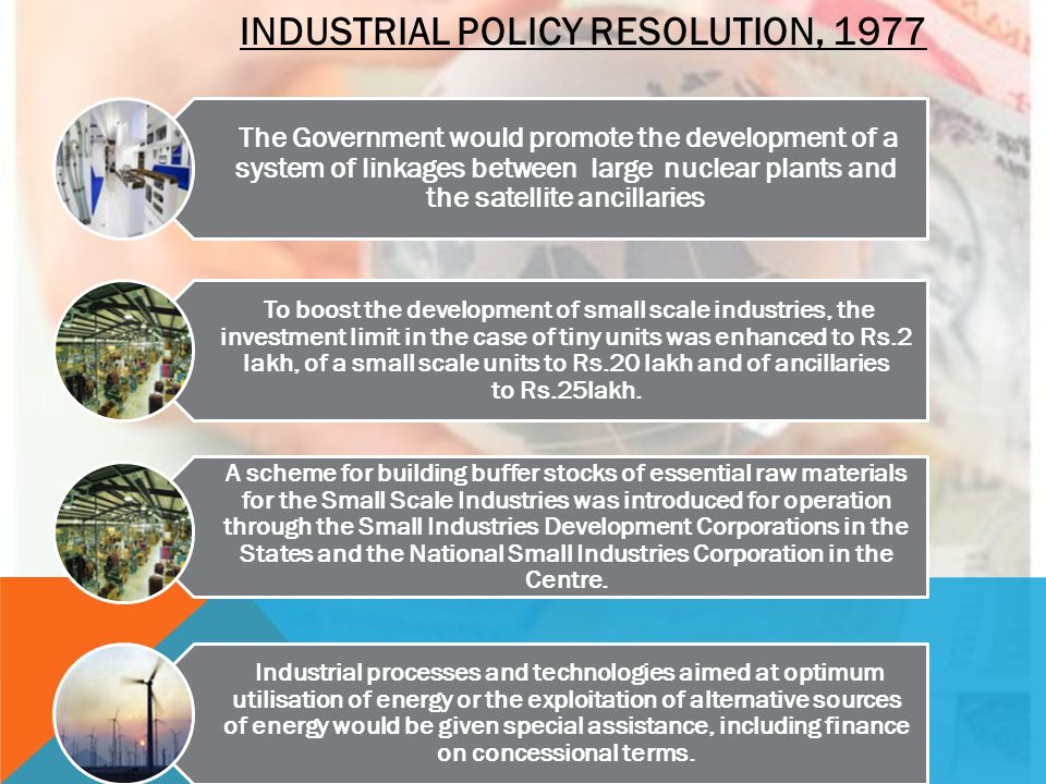 INDUSTRIAL POLICY RESOLUTION, 1977