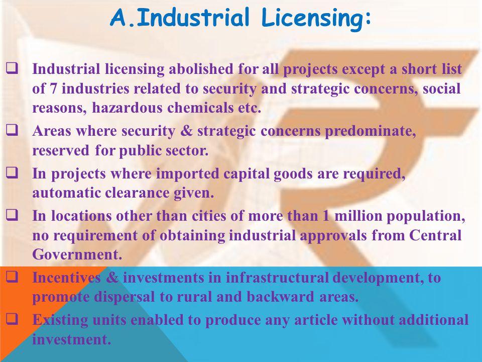 Industrial Licensing: