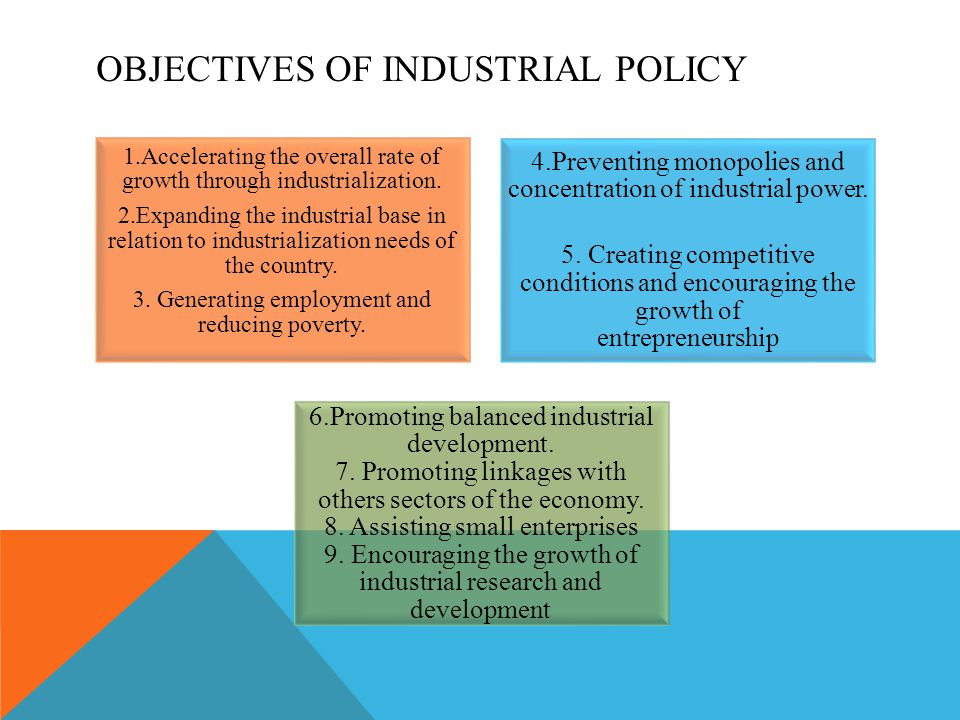 OBJECTIVES OF INDUSTRIAL POLICY