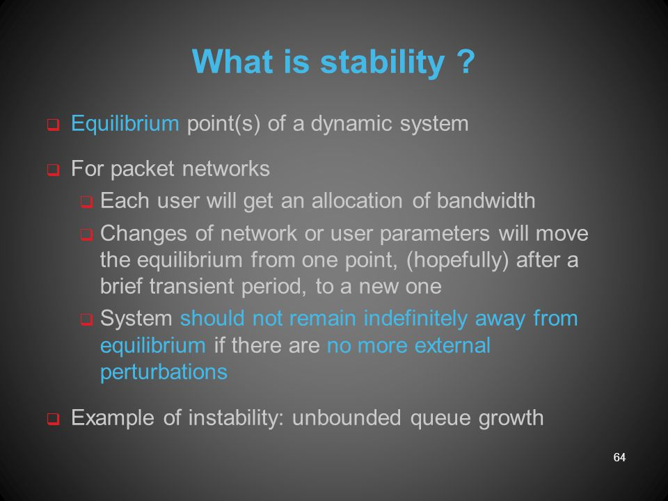What is stability Equilibrium point(s) of a dynamic system
