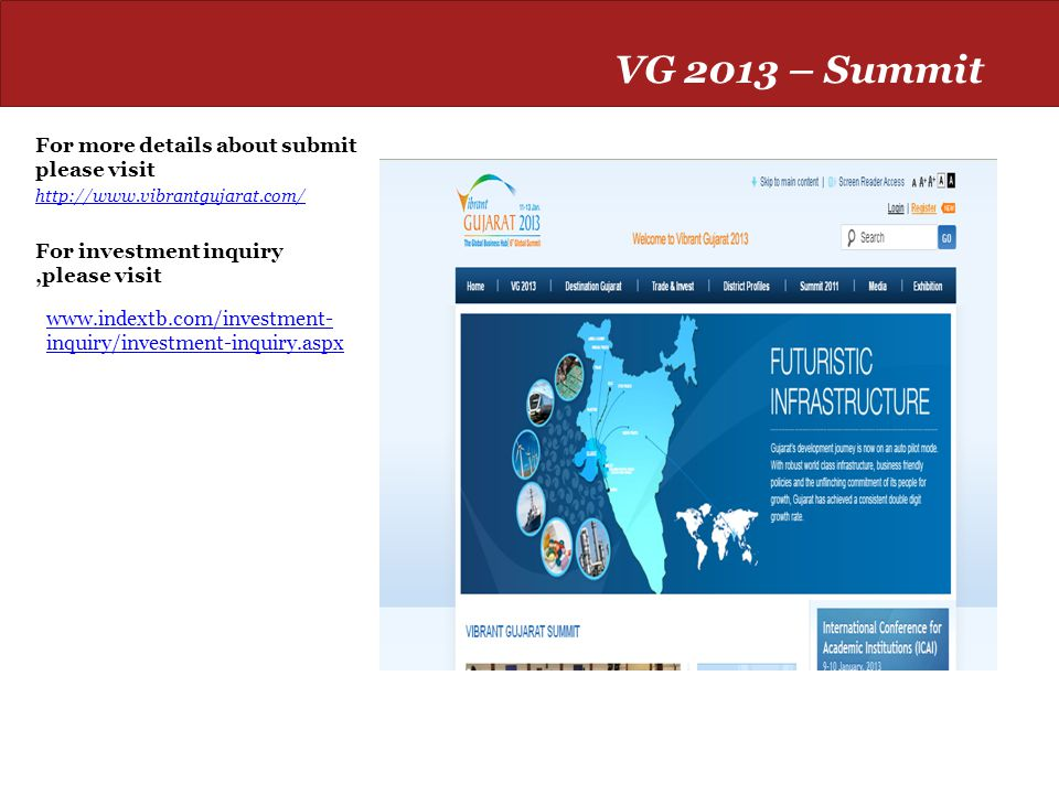 VG 2013 – Summit For more details about submit please visit
