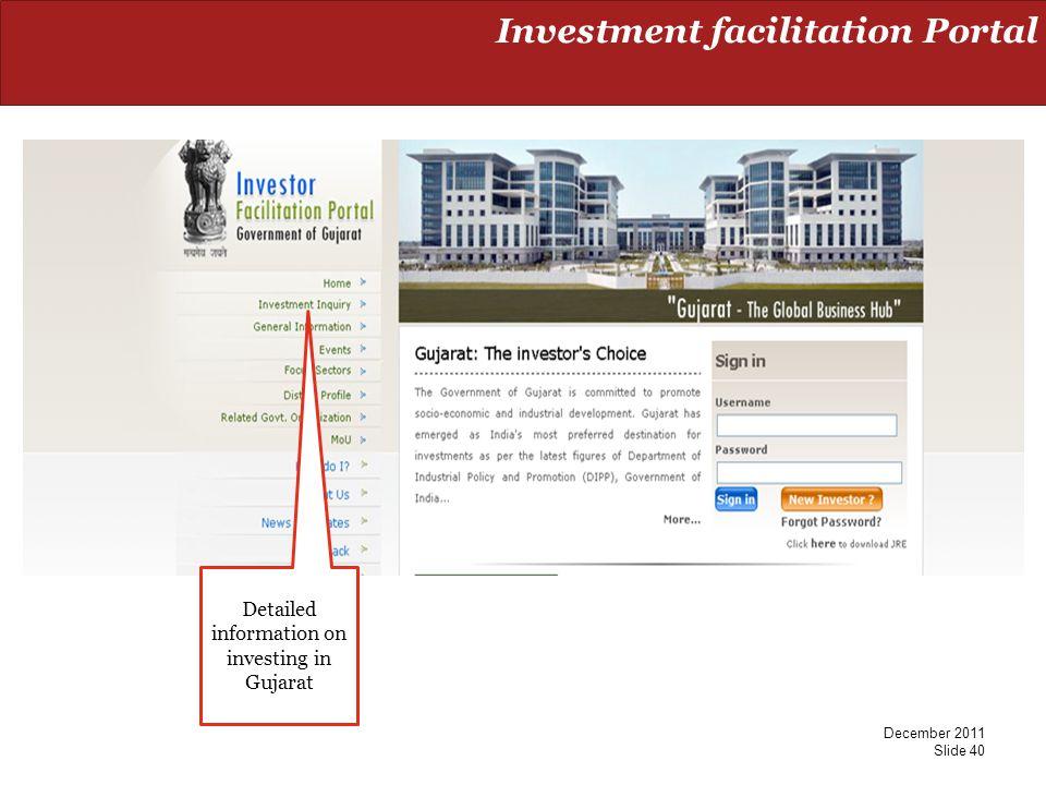 Investment facilitation Portal