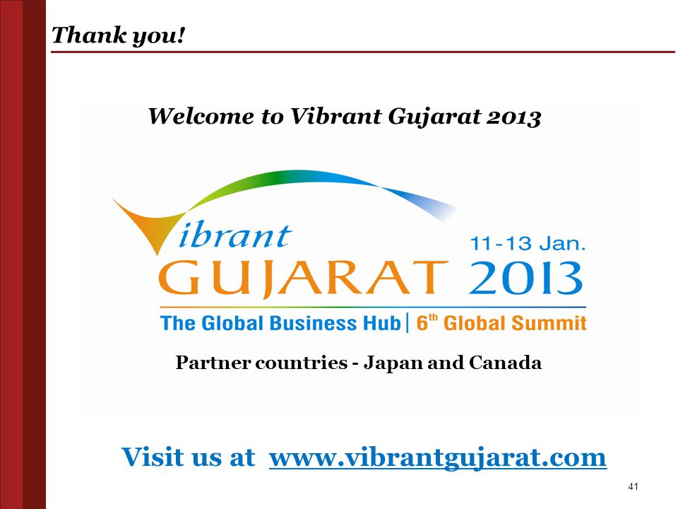 Welcome to Vibrant Gujarat 2013