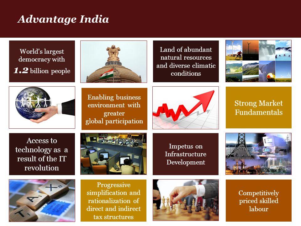 Advantage India Strong Market Fundamentals Access to technology as a