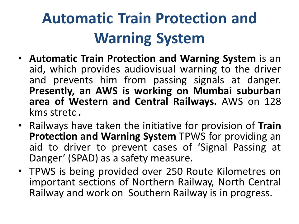 Automatic Train Protection and Warning System