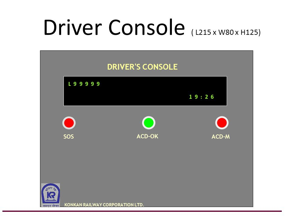 Driver Console ( L215 x W80 x H125)