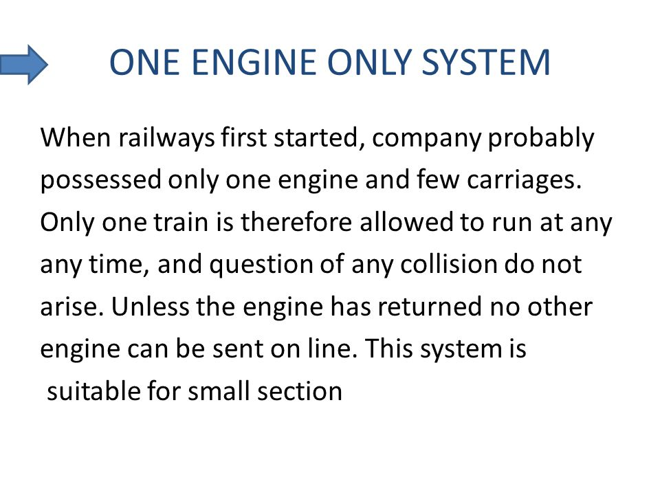 ONE ENGINE ONLY SYSTEM