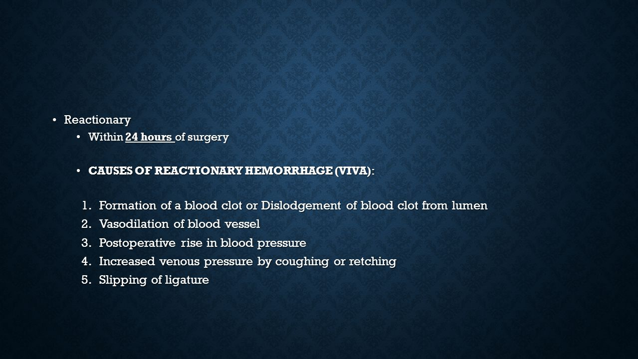 Formation of a blood clot or Dislodgement of blood clot from lumen
