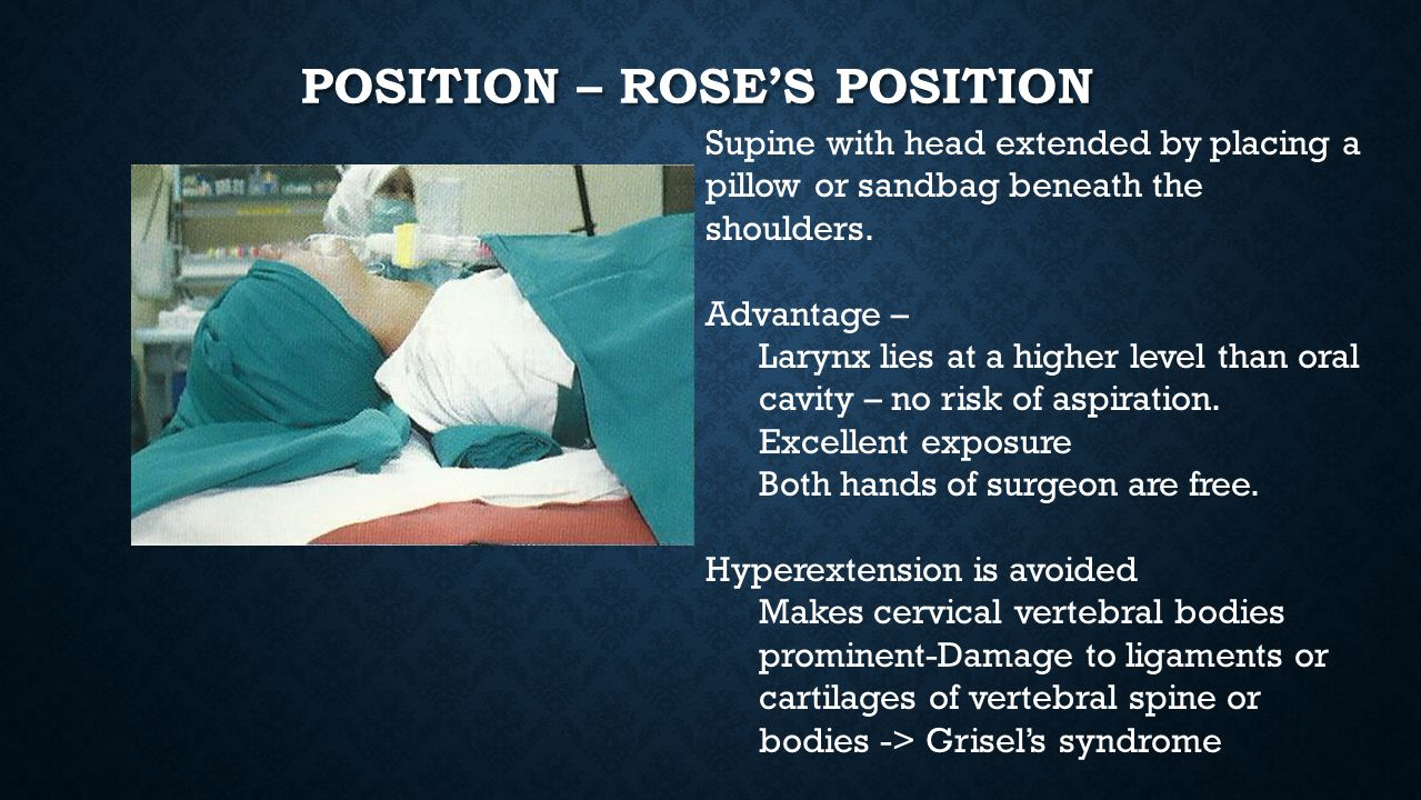 Position – Rose's position