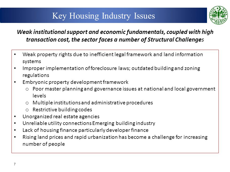 Key Housing Industry Issues