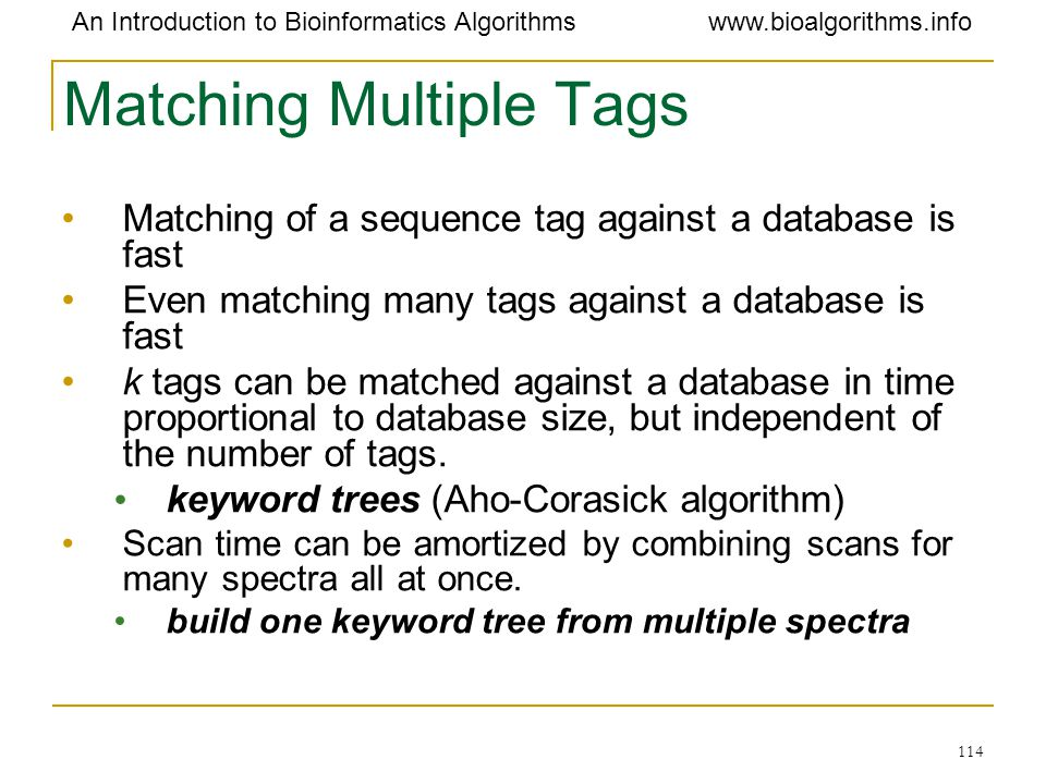 Matching Multiple Tags