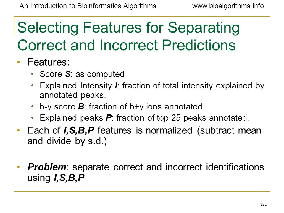 Selecting Features for Separating Correct and Incorrect Predictions