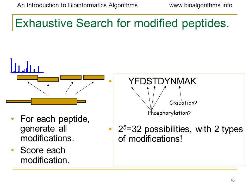 Exhaustive Search for modified peptides.