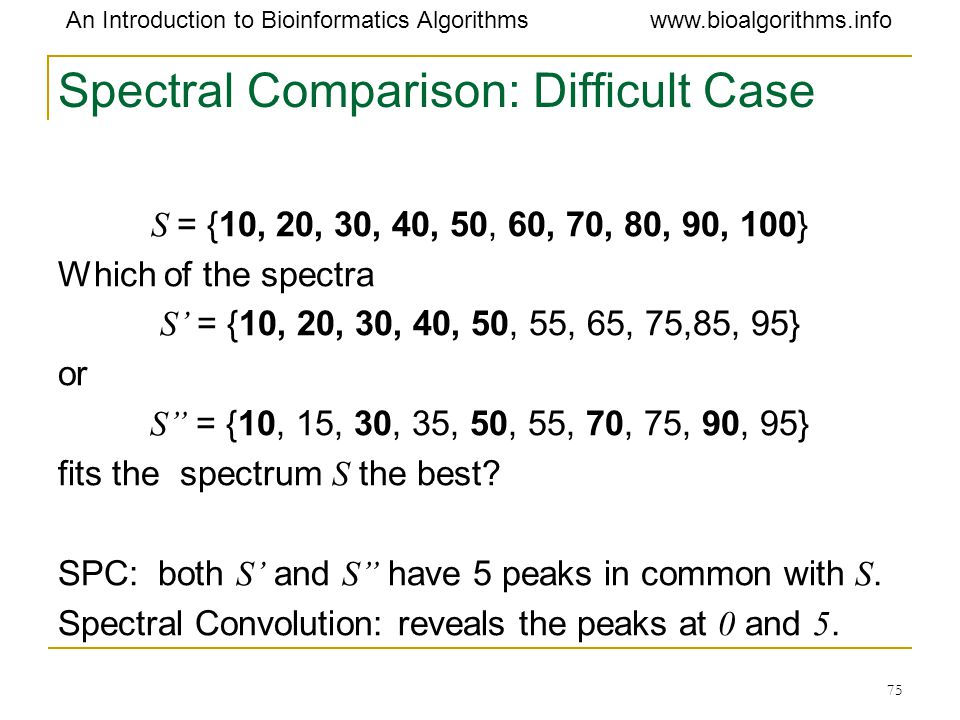 Spectral Comparison: Difficult Case