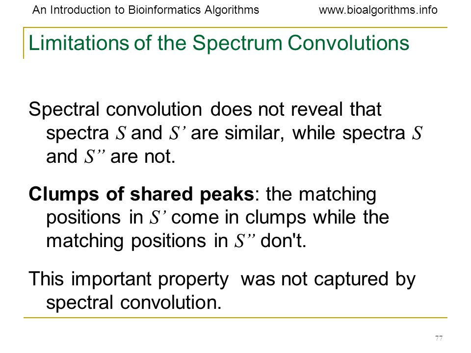 Limitations of the Spectrum Convolutions
