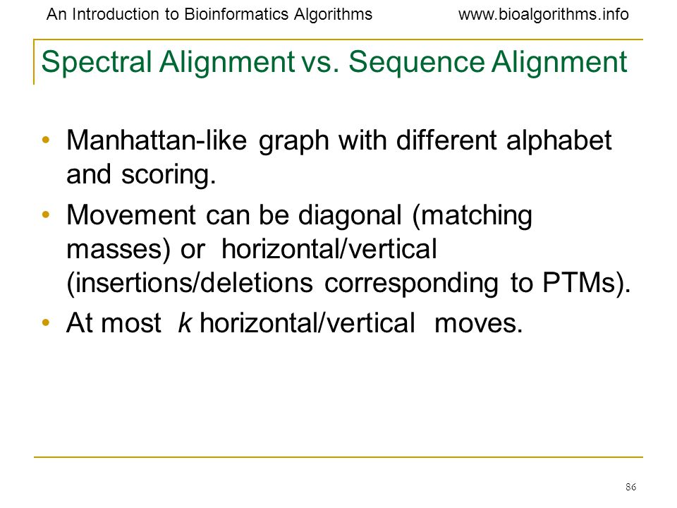 Spectral Alignment vs. Sequence Alignment