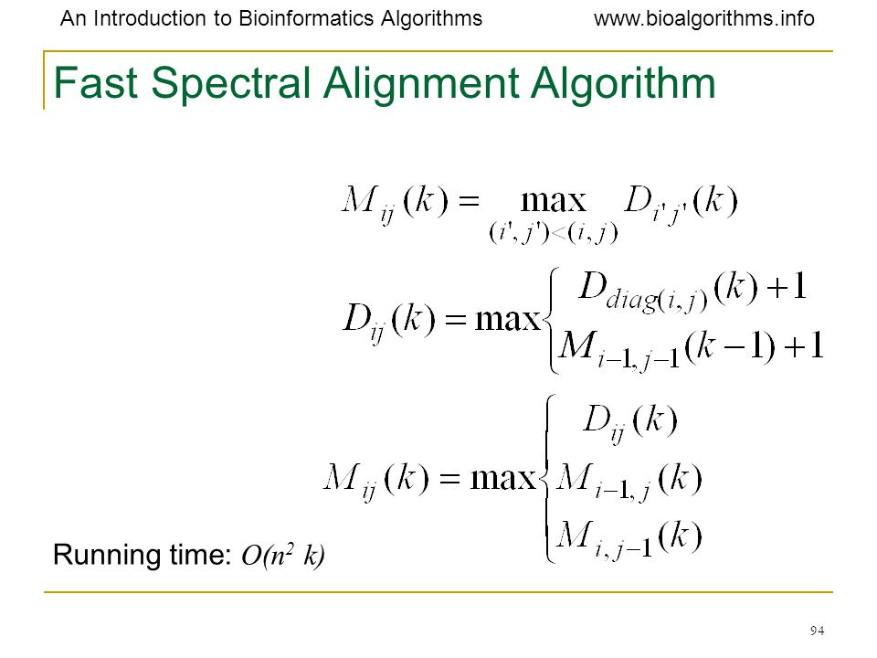 Fast Spectral Alignment Algorithm