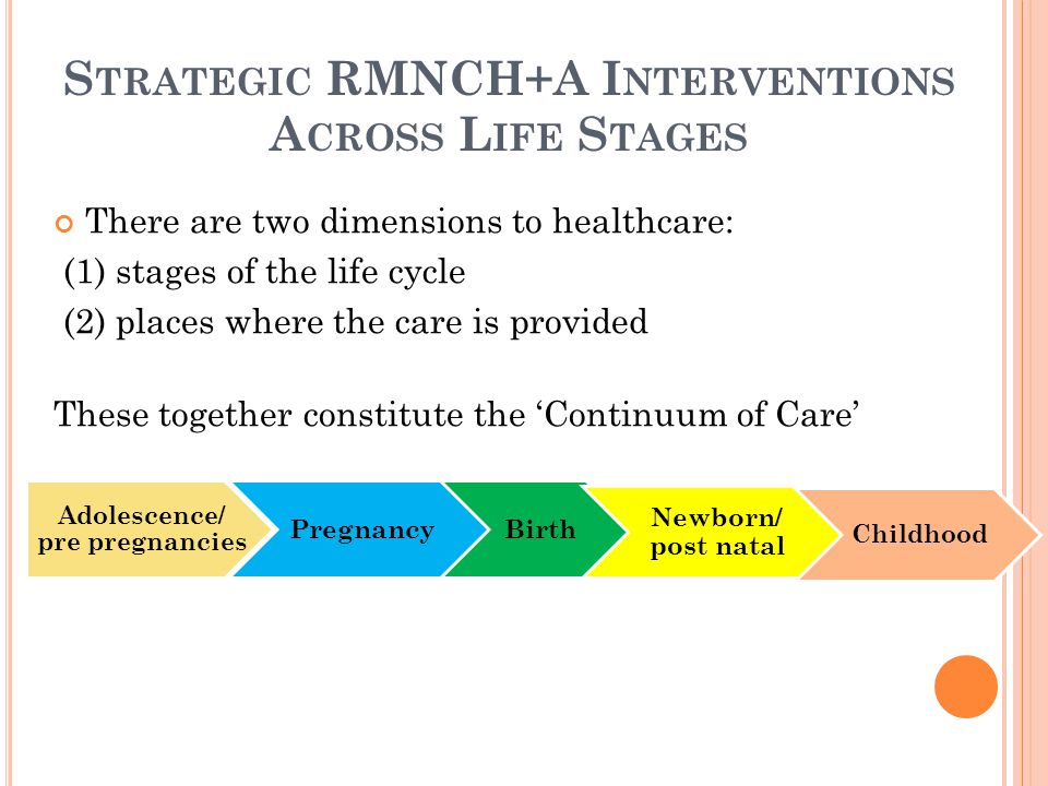 Strategic RMNCH+A Interventions Across Life Stages