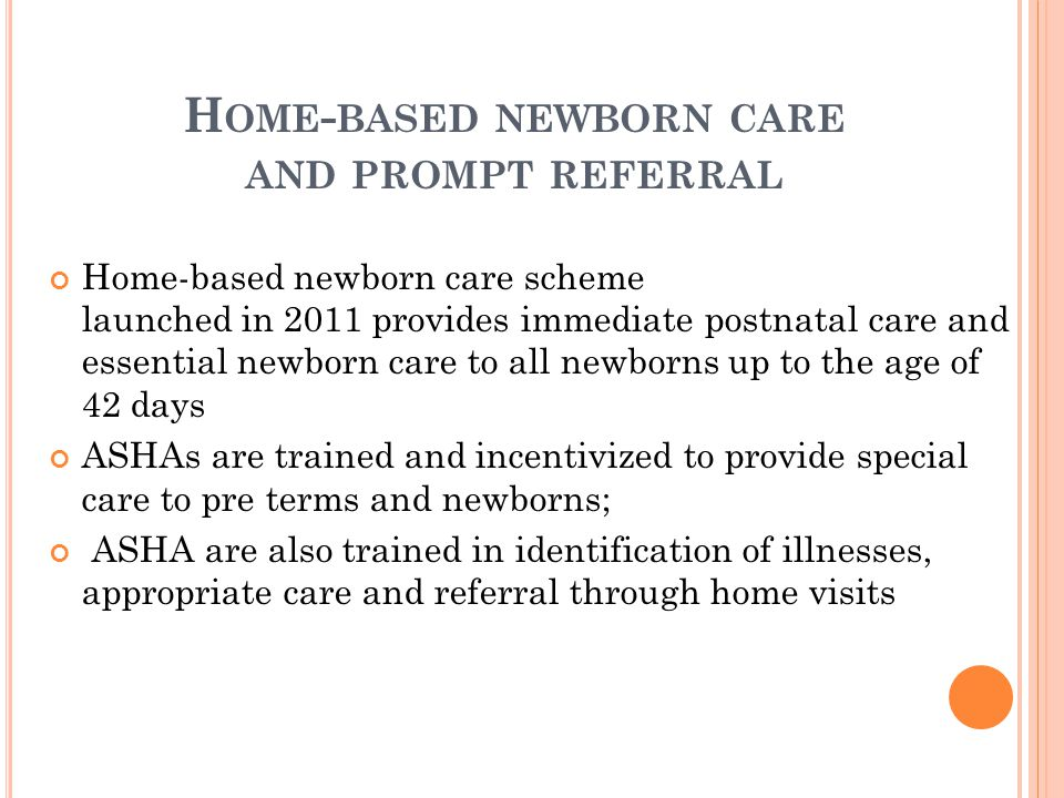 Home-based newborn care and prompt referral