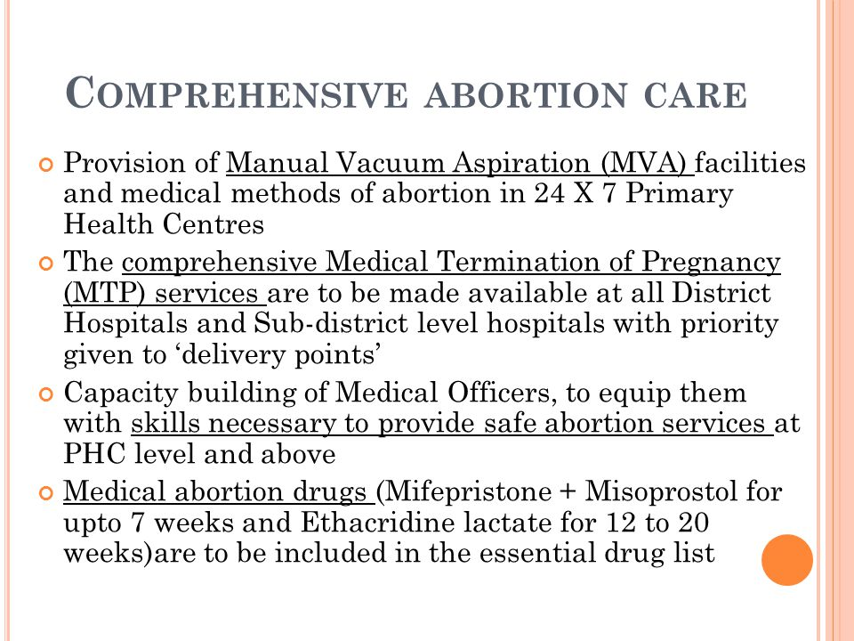 Comprehensive abortion care