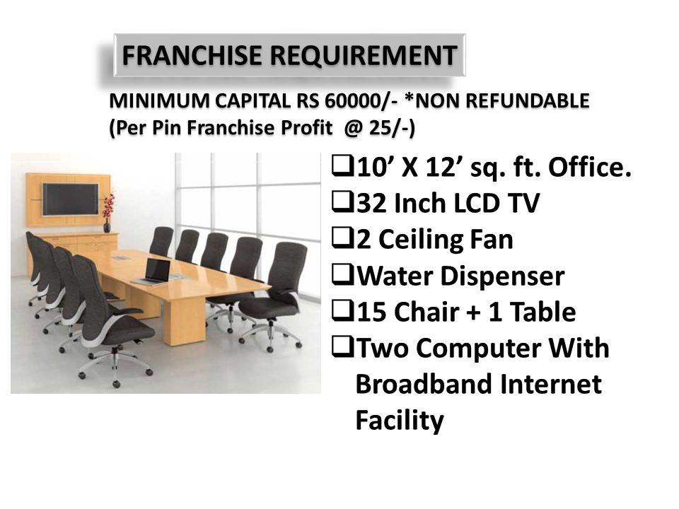 FRANCHISE REQUIREMENT