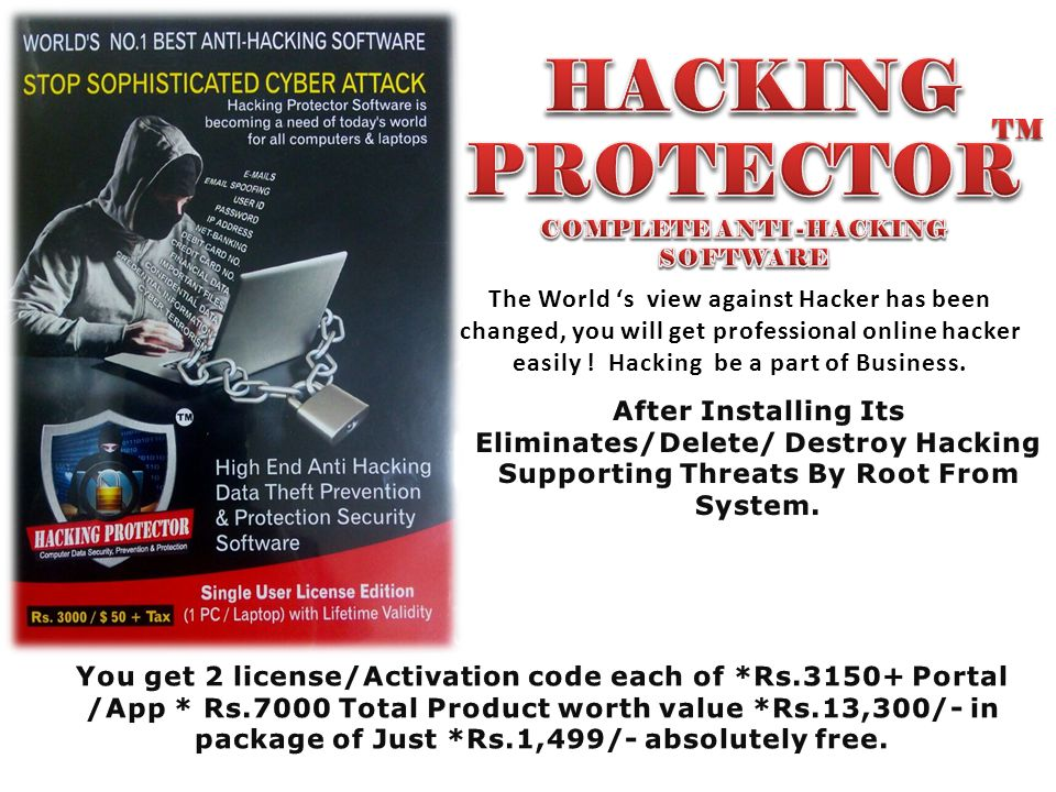 COMPLETE ANTI -HACKING SOFTWARE