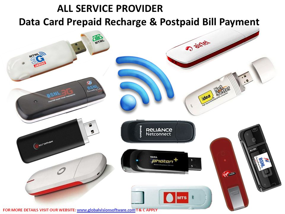 Data Card Prepaid Recharge & Postpaid Bill Payment