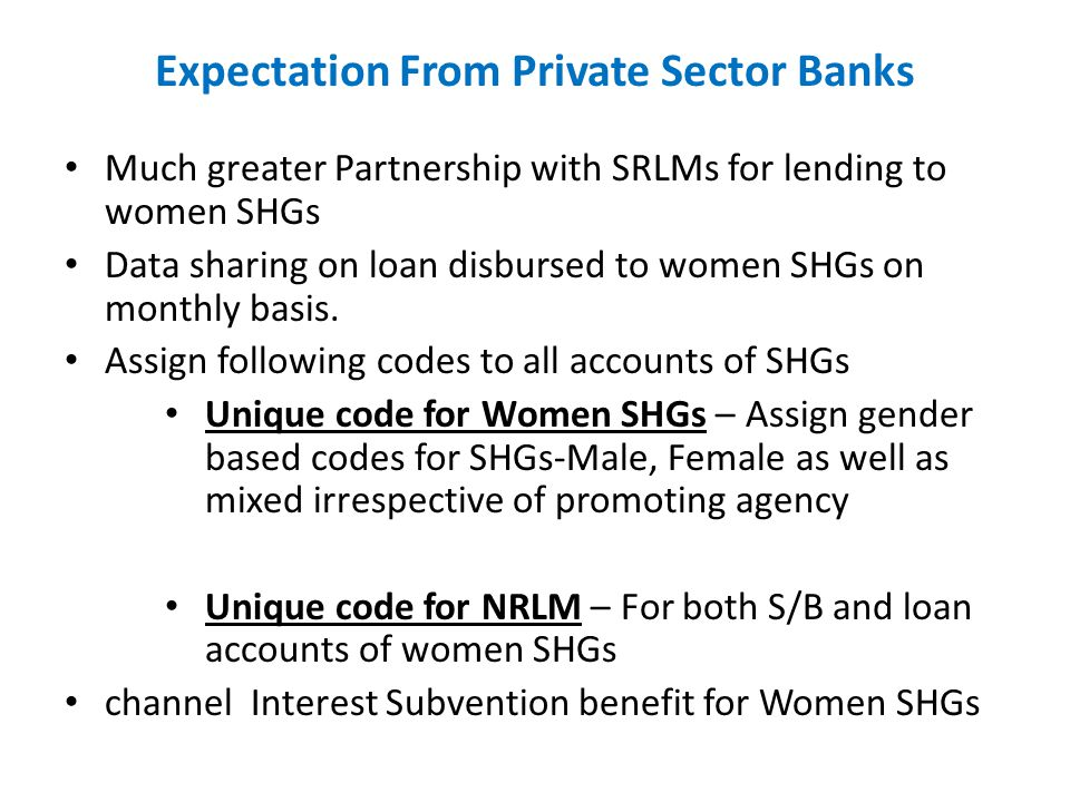 Expectation From Private Sector Banks