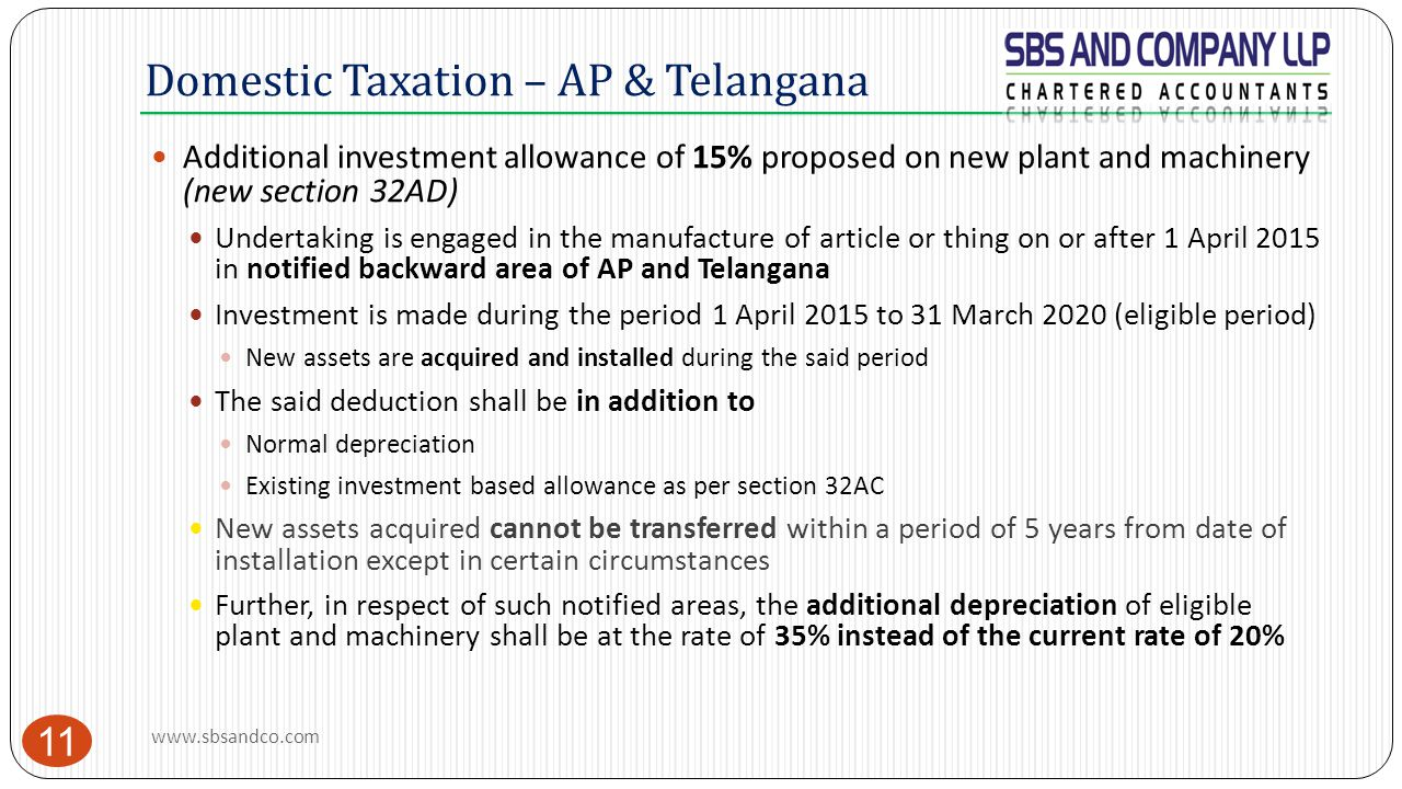 Domestic Taxation – AP & Telangana