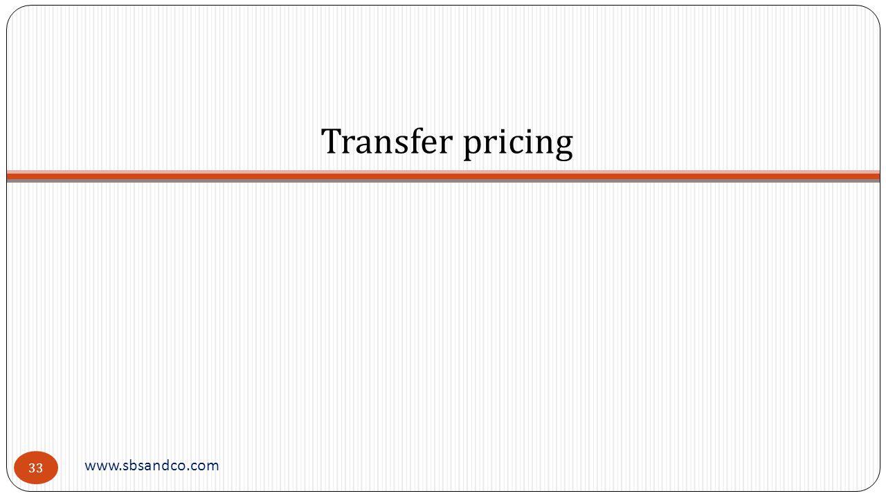 Transfer pricing www.sbsandco.com