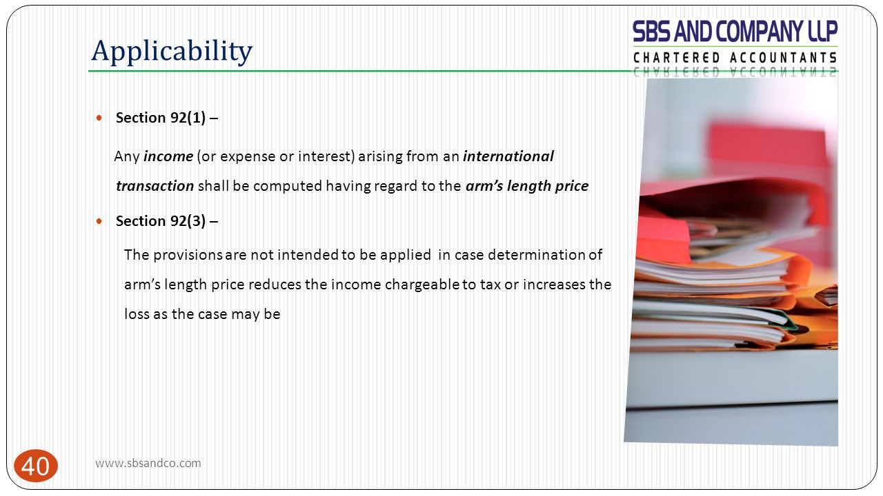 Applicability Section 92(1) –