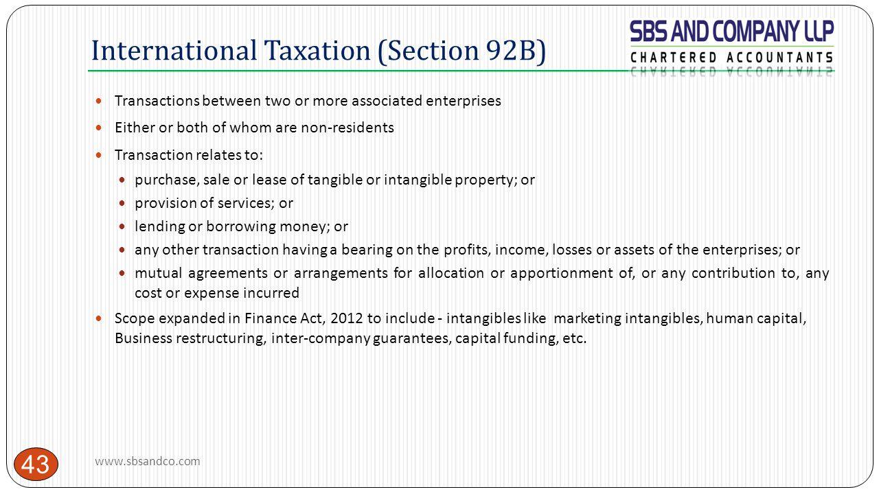 International Taxation (Section 92B)
