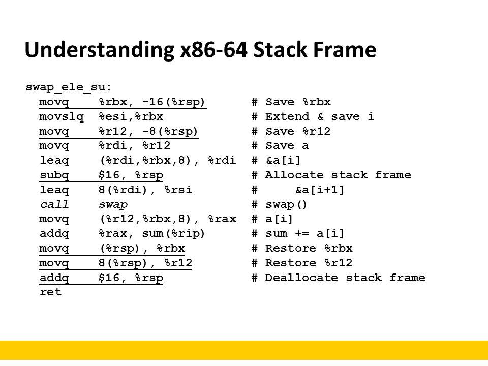 Understanding x86-64 Stack Frame