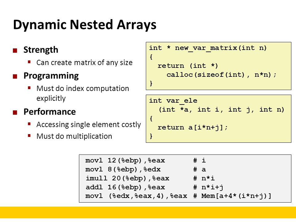 Dynamic Nested Arrays Strength Programming Performance