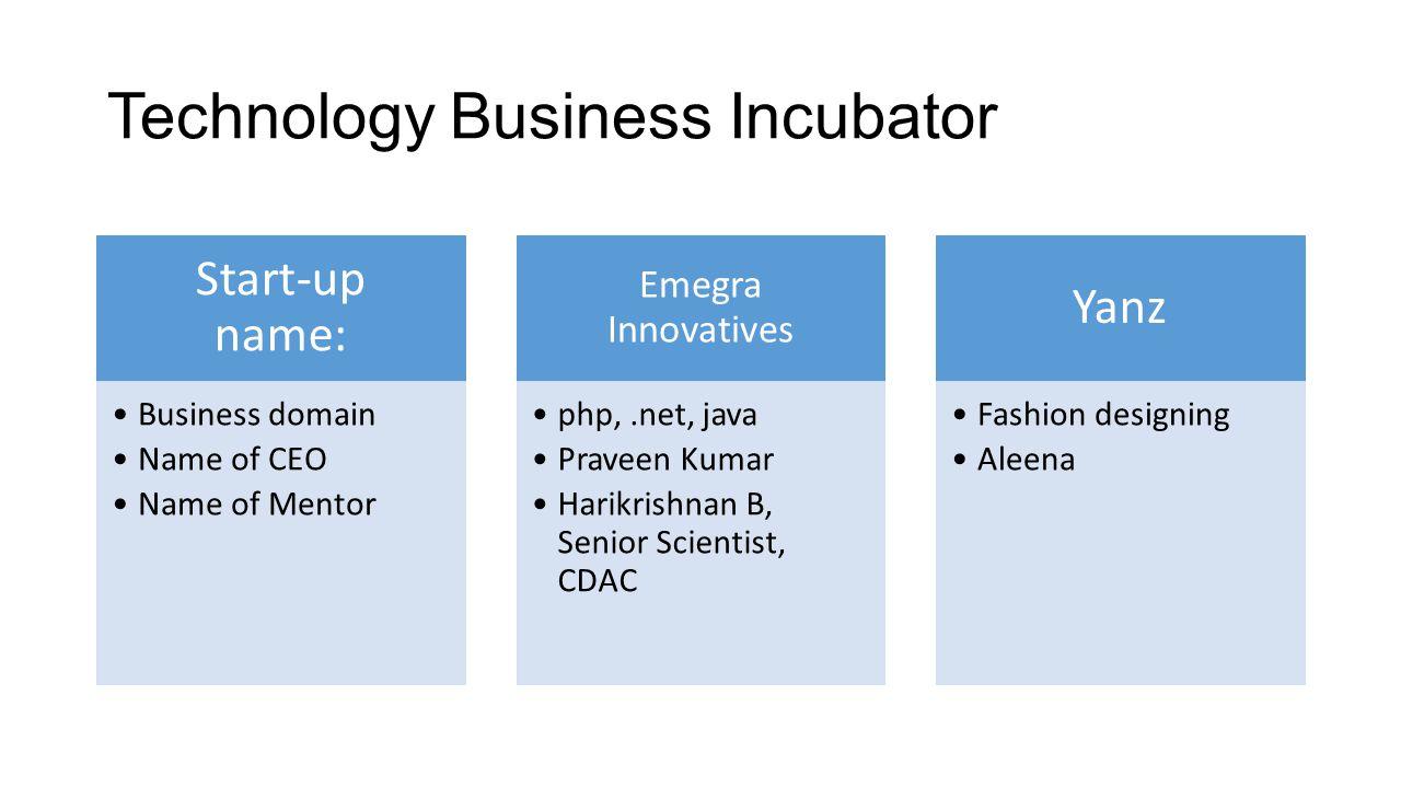 Technology Business Incubator