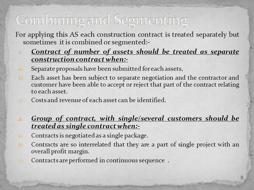 Combining and Segmenting