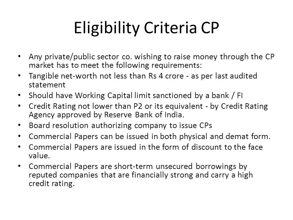 commercial papers are short-term unsecured borrowings by