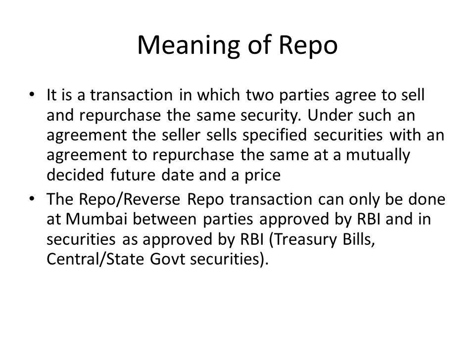 Repurchase Agreement Definition Of Repurchase Agreement Mandegarfo