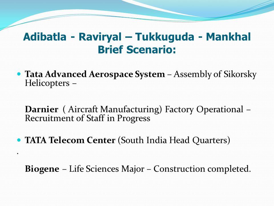 Adibatla - Raviryal – Tukkuguda - Mankhal Brief Scenario: