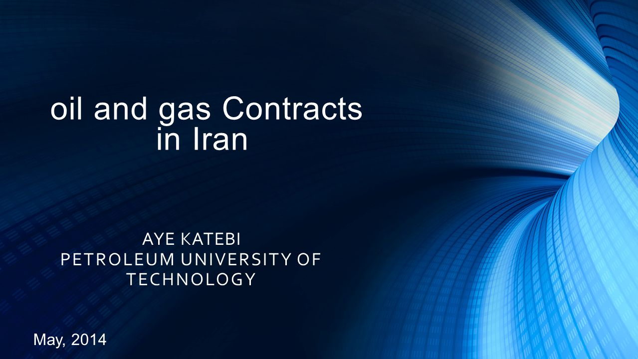 oil and gas Contracts in Iran