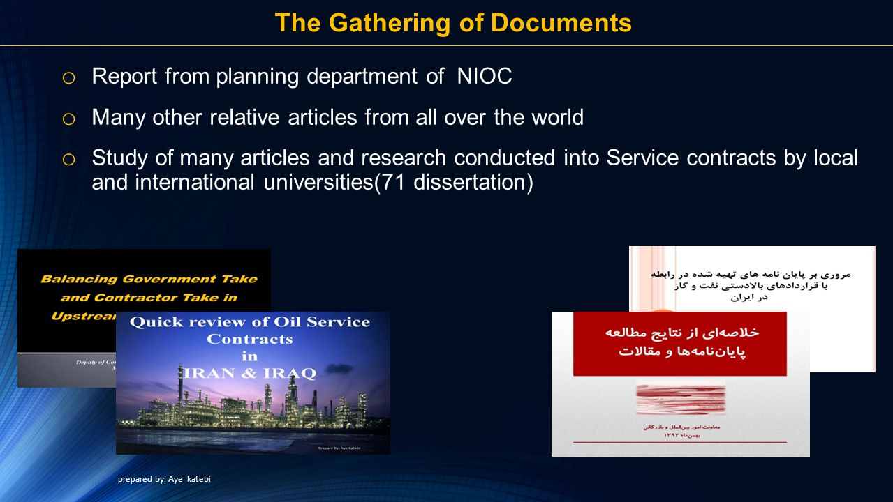 The Gathering of Documents
