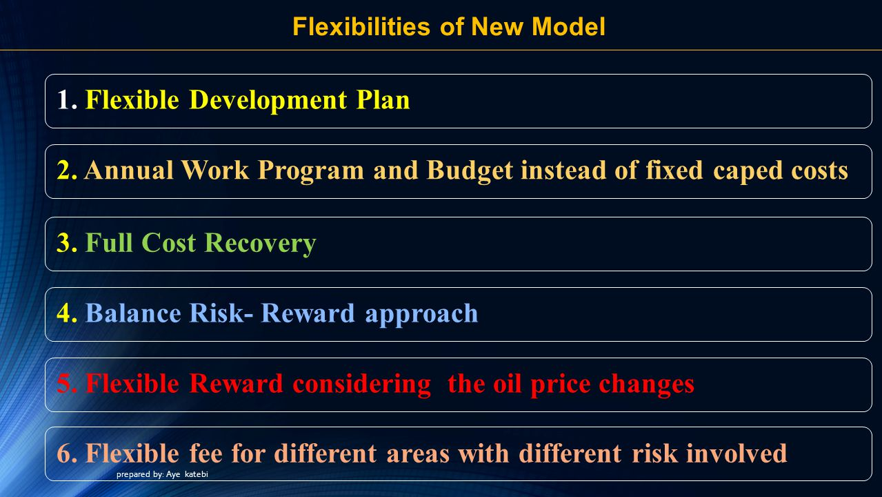 Flexibilities of New Model