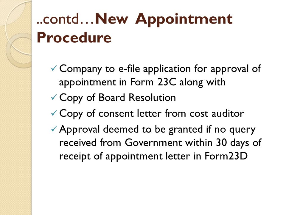 ..contd…New Appointment Procedure