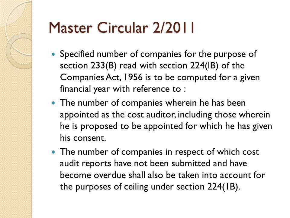 Master Circular 2/2011