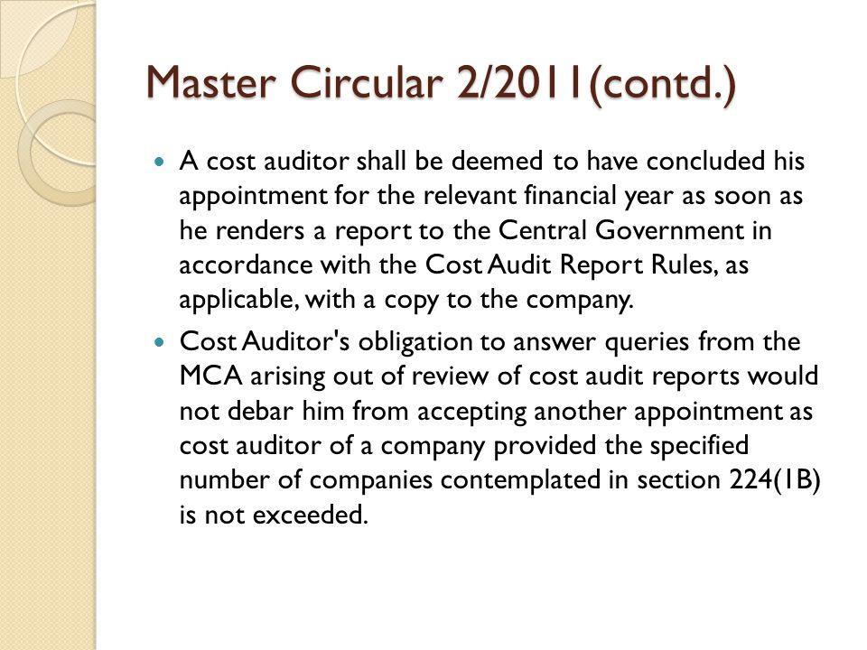 Master Circular 2/2011(contd.)
