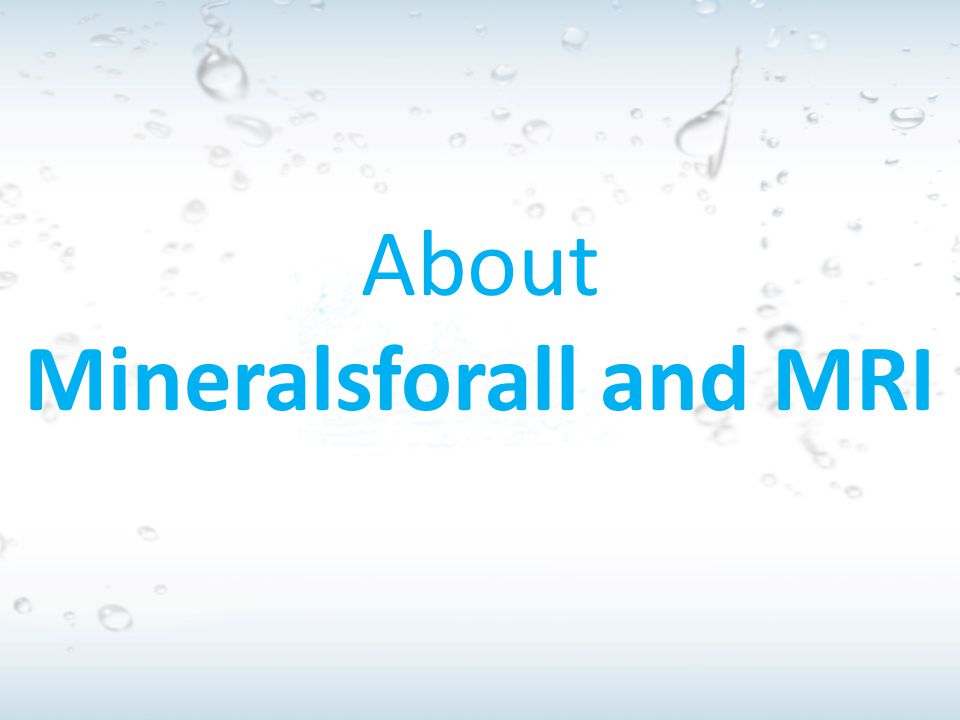 Mineralsforall and MRI