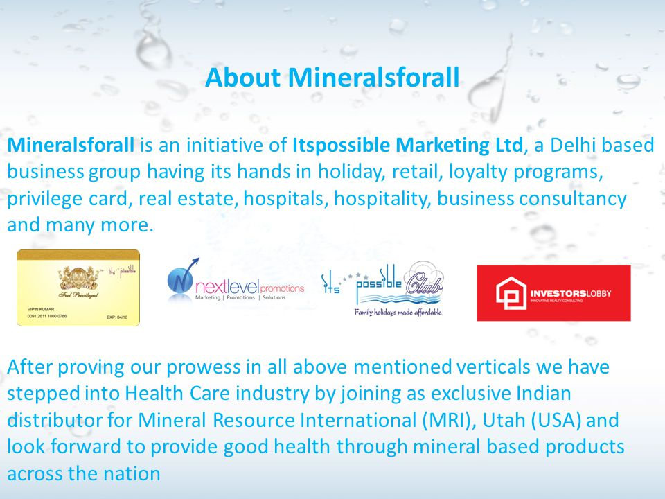 About Mineralsforall