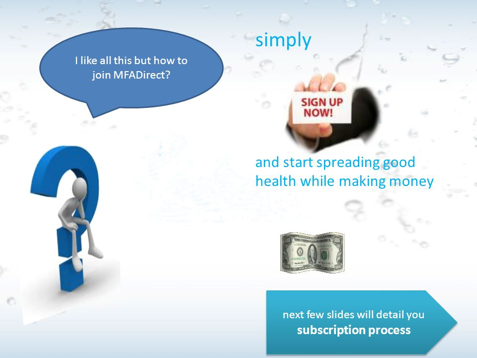 simply and start spreading good health while making money